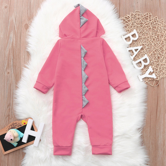 Infant Toddler Baby Girls Boys Dinosaur Hoodie Romper Zip Clothes Jumpsuit baby clothes baby rompers