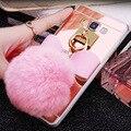 Mais novo Luxo Strass Brilhante Espelho Bonito arco Pele Bola Borlas casos de telefone capa para samsung galaxy a5 2015 a500 a5000 case