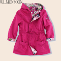 Children Outerwear & Coats Girls Jackets 2Sides Wear Hooded Windbreaker Kids Jacket 2017 Autumn Winter Brand Girls Coat Outwear