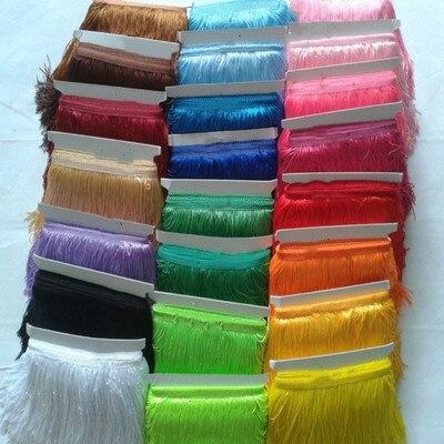 10 Yard / lot 15cm dlouhý polyesterový střapce Fringe krajka Trim páska Šití latinské šaty Stage Oděvní opony DIY Příslušenství