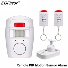 Wireless PIR Infrared Motion Sensor Detector Battery Alarm Anti-Theft Burglar Alarm Security System With 2pcs Remote Controller security warning co alarm detector wireless network alarm electrochemical sensor level ranking alarm with battery