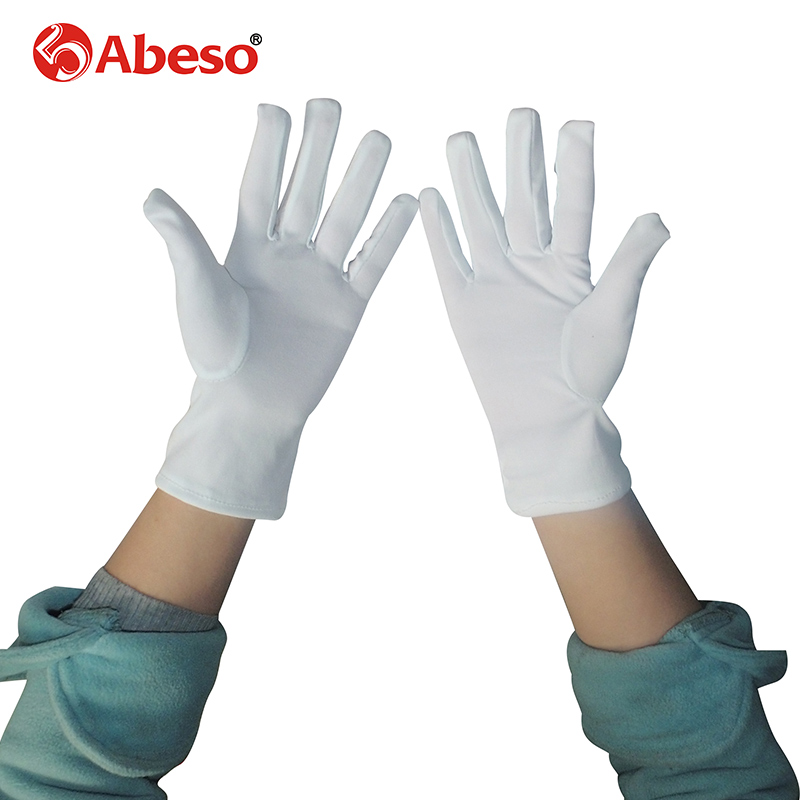 ABESO 10 Par Hvid dacron Ceremonielle handsker driver Magiker Server - Sikkerhed og beskyttelse - Foto 4