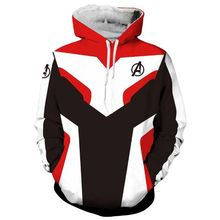 Qrxiaer Avengers Endgame Quantum Realm Sweatshirt Hoodie Autumn Winter Cosplay Costumes superhero Iron Man Hoddie