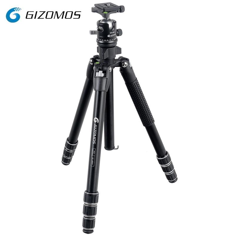 GIZOMOS GP-26A4+GHA-35D Stable Folding Aluminum Tripod Ball Head Kit For Digital Camera Sony Canon GIZOMOS GP-26A4+GHA-35D Stable Folding Aluminum Tripod Ball Head Kit For Digital Camera Sony Canon