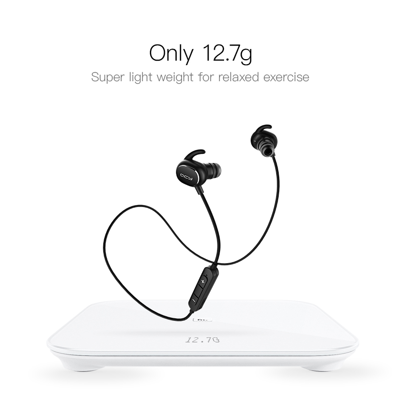 QCY QY19 Sports Bluetooth Earphones Wireless Sweatproof Headset Music Stereo Earbuds Bluetooth V4.1 with Microphone 3