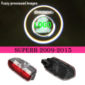 2x LED door step courtesy laser projector light For Skoda Superb 2009-2015