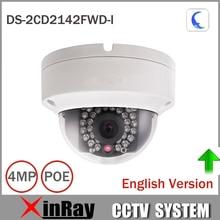 Hik 4mp IP камер ds-2cd2142fwd-i IP POE Камера день/ночь инфракрасный IP67 IK10 защиты открытый купол Камера Поддержка ONVIF