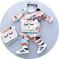 Baby boys clothing set for 1 2 3 years old 2017 Spring new fashion boy clothing set cotton material with bear print A085