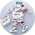 Bebê meninos roupas set para 1 2 3 anos de idade 2017 primavera de moda de nova menino roupas definir material de algodão com impressão urso A085