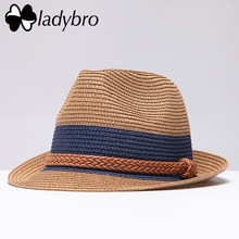 Ladybro Summer Jazz Women Straw Hat Beach Men Տղամարդկանց Sun Hat Casual Panama Cap