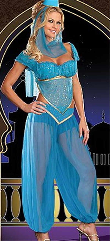 Aladdin Sexy sexy aladdin jasmine genie costume arabian princess belly dance performance  outfit