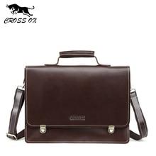 CROSS OX New Arrival High-End Men's Handbag Genuine Leather Business Briefcase Cow Leather Portfolio Shoulder Bag HB575M