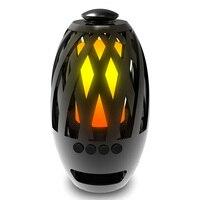1 шт. Crazy портативный светодиодный пламенный Фонарь динамик стерео BT4.2 Bluetooth динамик атмосфера мягкий свет для iPhone Android праздник