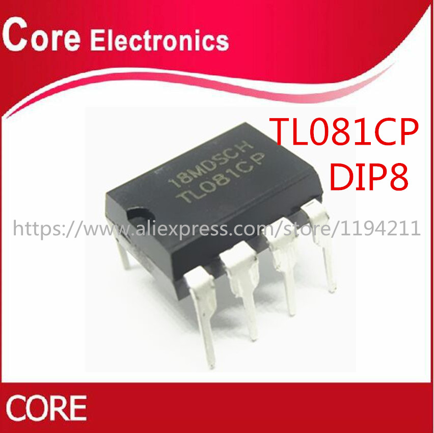 100pcs TL081CP TL081 OP AMP IC IC/'S DIP-8