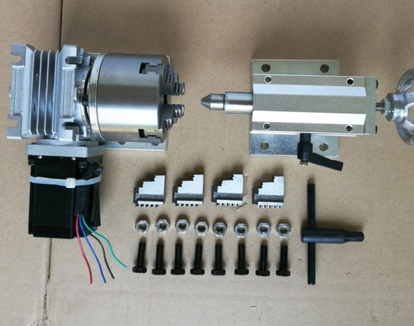 € 182.58 6% de DESCUENTO|Máquina de grabado máquina de eje giratorio cuarto  eje CNC de 4 ejes dividiendo la escultura tridimensional A 80 arreglar ...