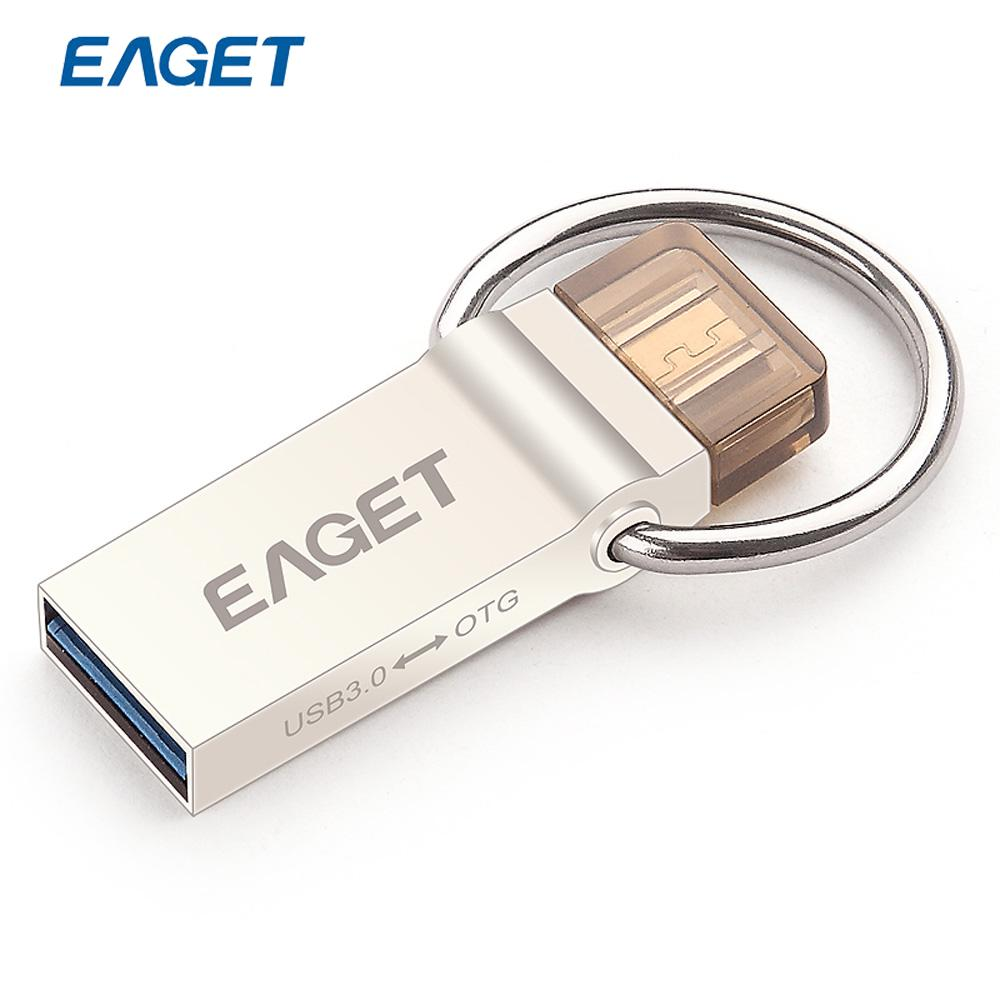 EAGET V90 USB Flash Drive High Speed USB 3.0 OTG Pen Drive For Android Mobile USB Flash Disk 64GB 32GB 16GB Pendrive ES Stock