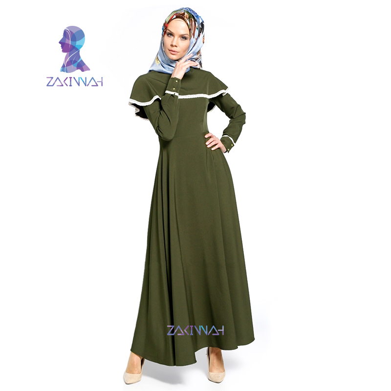 Women Cloak Kaftan Abaya Muslim Dress skirt turkish robe Abaya Muslim Women Dress Saudi Middle East Robe Dress