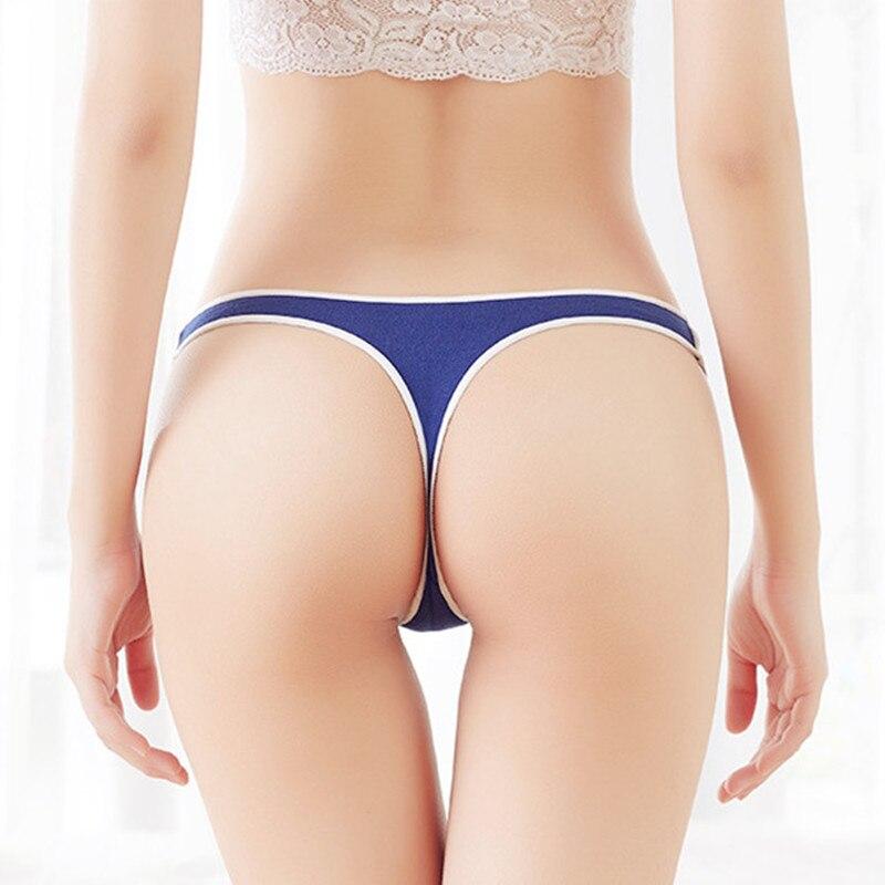 41dffff242c Sexy Women G String Cotton Panties Low Waist Soft Cotton Seamless Underwear  Sport Style Briefs For Girls Fashion Tanga Femme