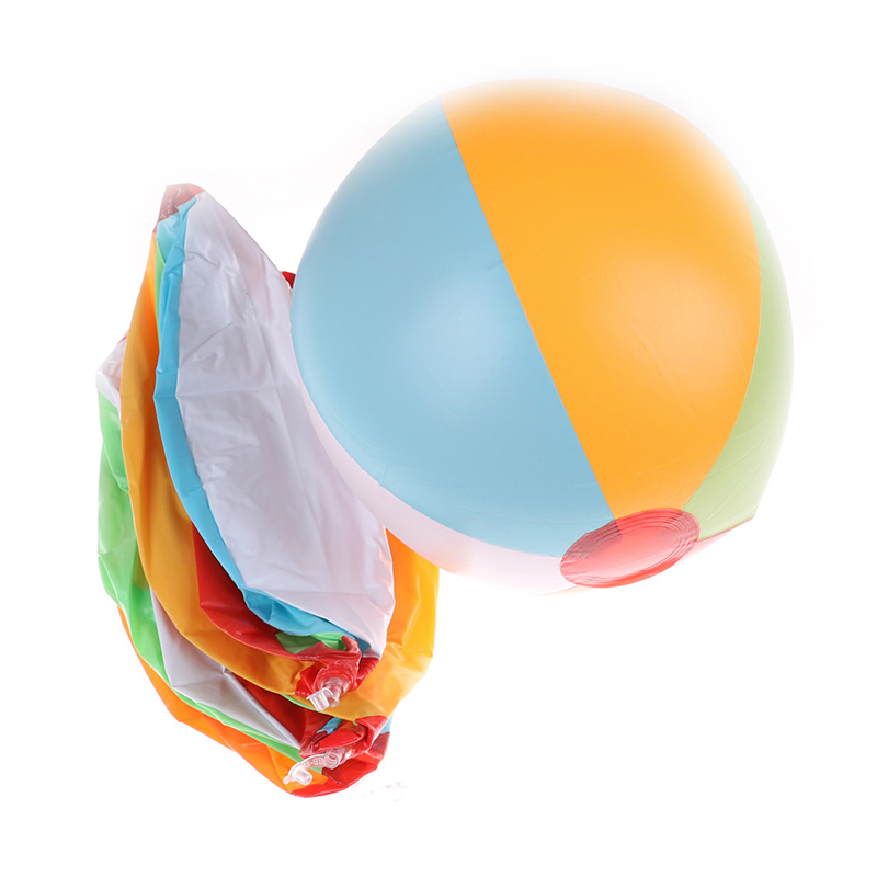 Children Color PVC Inflatable Beach Racquet Ball Kids Baby Outdoor Water Swimming Water Toys Summer New To Send Rubber Band G39 in Water Balloons from Toys Hobbies
