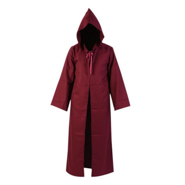 d7edcd79f1 Cosplay Cloak Costumes Short Sleeves Adult Men Hooded Robe Cloak Cape  Halloween Costume Christmas Dress Scary Clothes