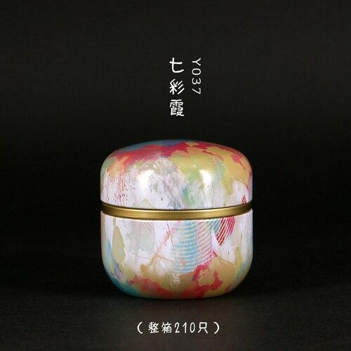 50 мл японский стиль кухонный чай коробка банка держатель для хранения сладкие конфеты банки чайная посуда чайные добавки жестяные контейнеры коробка для хранения - Цвет: 04
