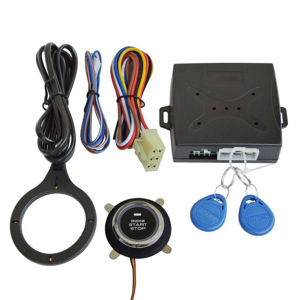 Car RFID Immobilizer Hidden Lock System with Keyless Go Engine Start Stop Push Button for Vehicle Double Layer Start Protection
