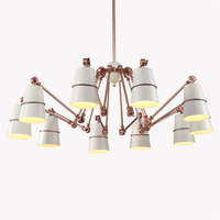Postmodern Simple Creative Chandelier Personality Spider Home Showcase Duplex House Villa Branch Type Hotel Lamp Free