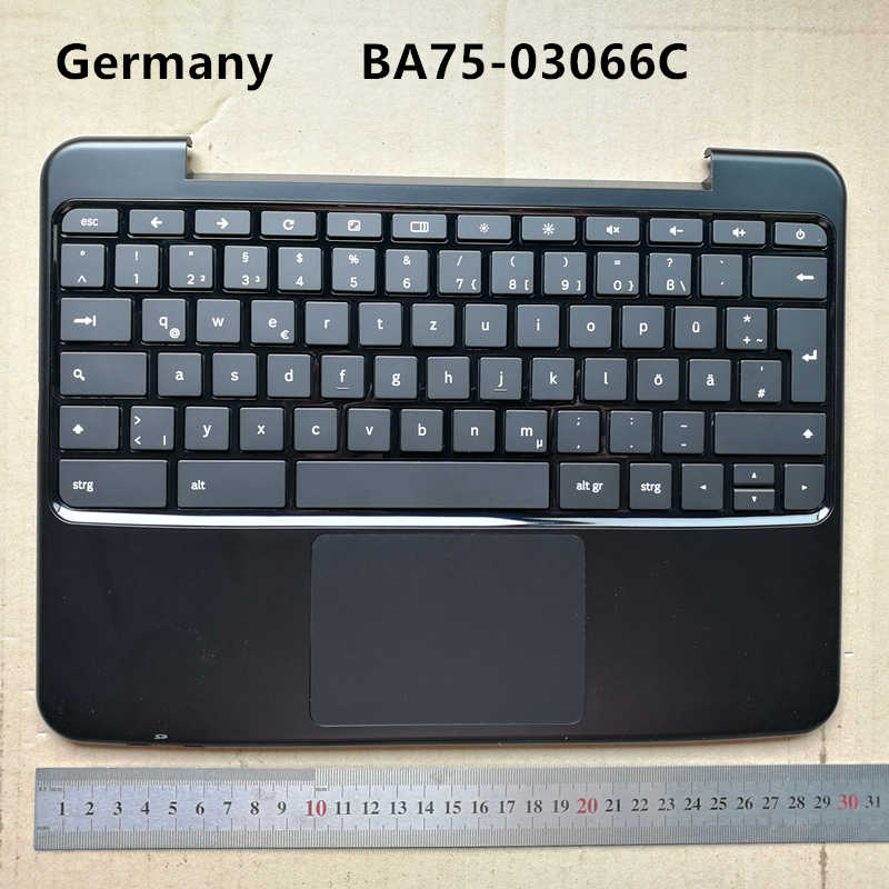 GAOCHENG Laptop PalmRest/&Keyboard for Samsung XE500C13 Brazil BR with Touchpad Upper Case Silver New