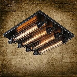 Image 1 - Loft żelaza lampa sufitowa 4 żarówki edisona przemysłowa Steampunk metal punk lampa w stylu Vintage retro deco oprawa oświetleniowa
