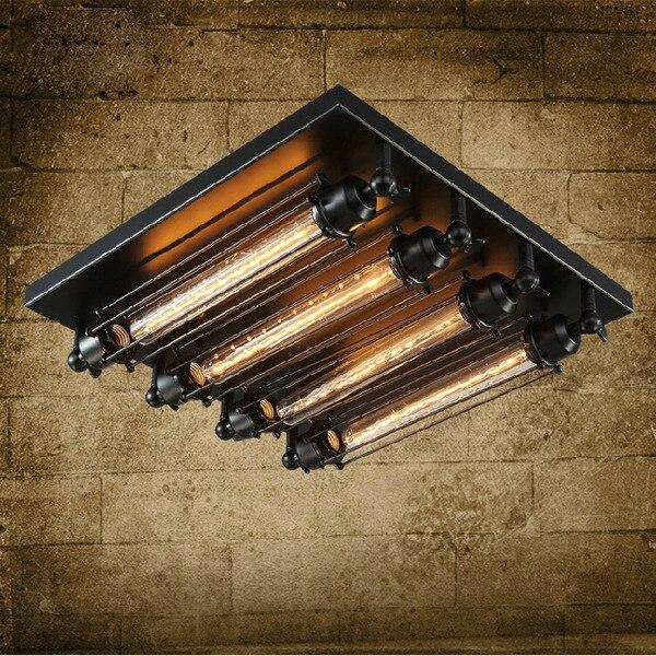 Loft sắt ánh sáng trần 4 bóng đèn edison công nghiệp Steampunk kim loại punk đèn Vintage retro deco Chiếu Sáng Lịch Thi Đấu