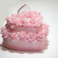 European style wedding ring pillow heart foam rose flower pearl wedding cushion 6 styles