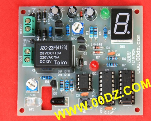 Object flow counter electronic assembly industry product competition package material counter parts DIY infrared detection automatic door 2012 latest competition kit electronic product assembly and commissioning test