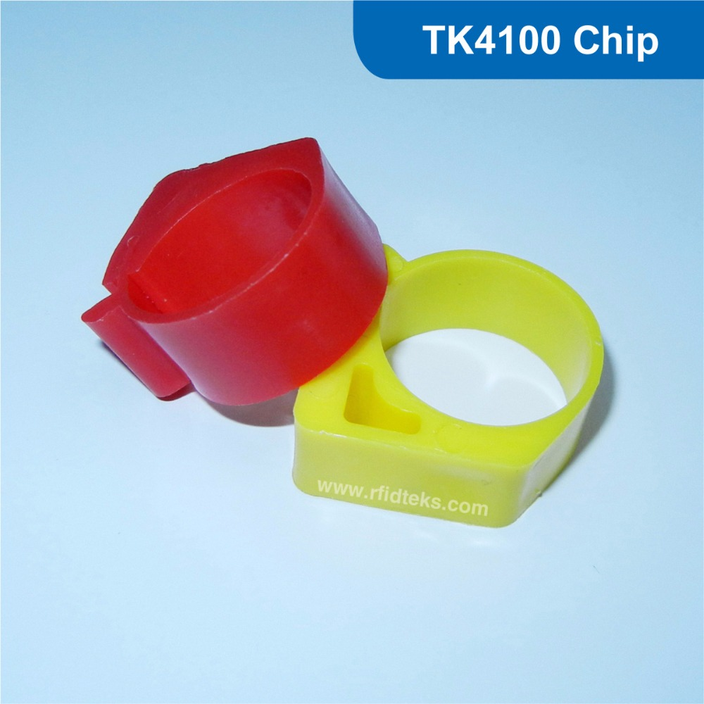 Animal rfid ring tag for chicken bird and pigeon 125KHz RFID Animal Tag RFID pigeon foot tag with TK4100 Chip 134 2khz rfid animal identification round pig ear tag for livestock animal tracking and indentification 500pcs lot good quality