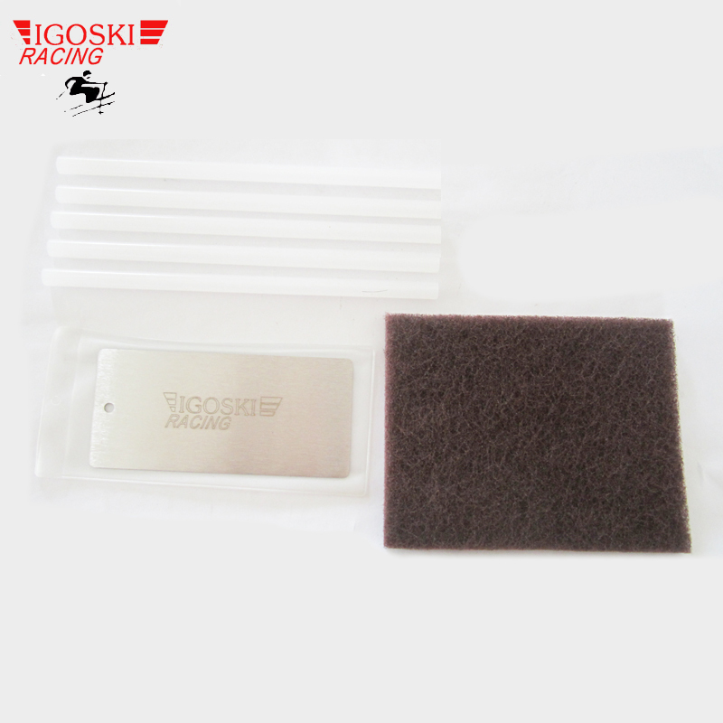 ski metal wax scraper polish pad p tex candle set for removal of excess wax from skis and snowboards tuning snowboarding