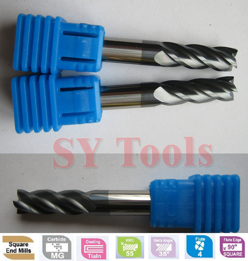 Free shipping 2pcs 8mm Four Flutes Spiral Bit Milling Tools Carbide CNC Endmill Router bits hrc55 D8*20*D8*60  цены