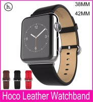 100 Genuine Leather Watchbands With Connector Adapter Strap For Apple Watch Leather Band 42MM38MM With Sports