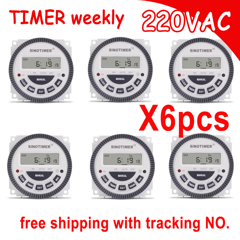 TM619 AC 220V 230V 240V Digital Timer 7 Days Programmable Time Switch Relay with UL listed relay 16A, easy wiring,with flap. digital timer 220v 16a time relay control 16a breaker with weather proof box