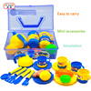Children S Kitchen Toys Cutting Fruits Food And Teapot Toys Kitchen Set Hand Box Tableware Education