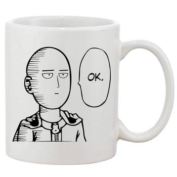 Mug One Punch Man Saitama Ok Face