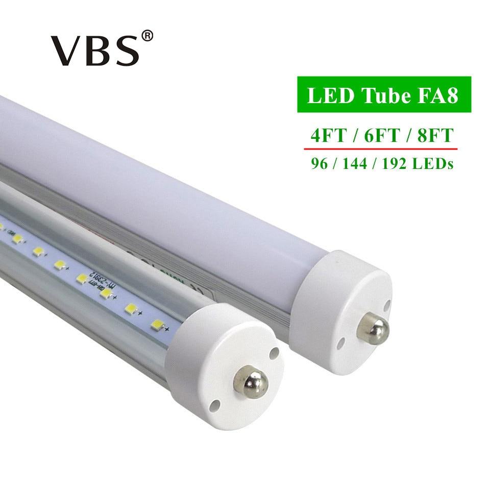 LED tubes FA8 T8 4ft 6ft 8ft  Led Tube Lights High Super Bright Warm White Cool White Led Fluorescent Tube AC85-265V домкрат белак бак 10043 6т