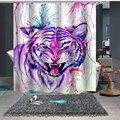 Nach Maß Dusche Vorhang Bad Vorhang Partition 1,5x1,8 mt 1,8x1,8 mt 1,8x2 mt Tiger leopard Tier