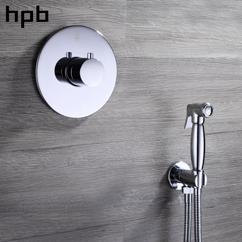 HPB Brass Bathroom Handheld Bidet Spray Shower Set Hot And Cold Water Wall Mounted High Pressure Toilet Bidet Faucet HP7002 седло для велосипеда stg vd1004d 06 х54047