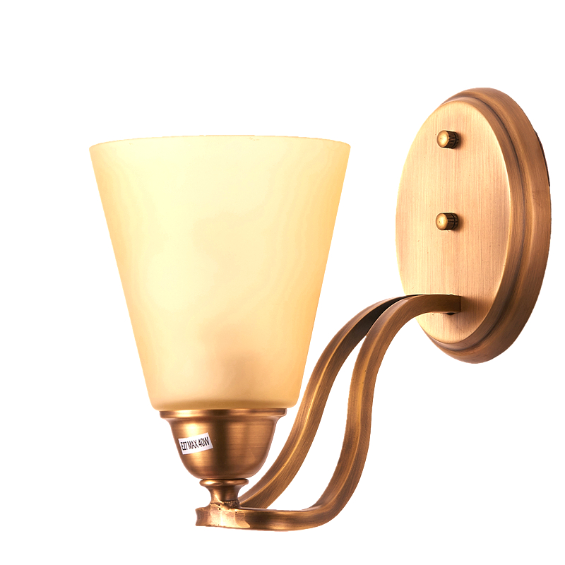 все цены на Bjornled Luxury Style Copper LED Wall Light Bedroom Bedside Lamp Indoor Gold wall lamp for Living Room Hotel home decoration