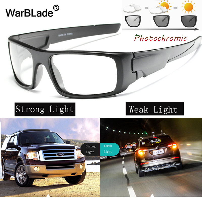 WarBLade Intelligent Photochromic Sunglasses Polarized Chameleon Discoloration Sun Glasses Men Car Driving Goggles Sunglasses