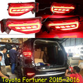 Carro-styling, Fortuner luz Quebra, 2015 ~ 2017, levou luz, Livre O navio! 2 pcs, Fortuner luz traseira, luz da cauda Fortuner, Cromo, Cruiser