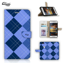 "Tartan Design Case For Huawei Y635 5"" Case Flip Luxury Wallet PU Leather Protective Mobile Phone Shell Bag Case With Gift Film"