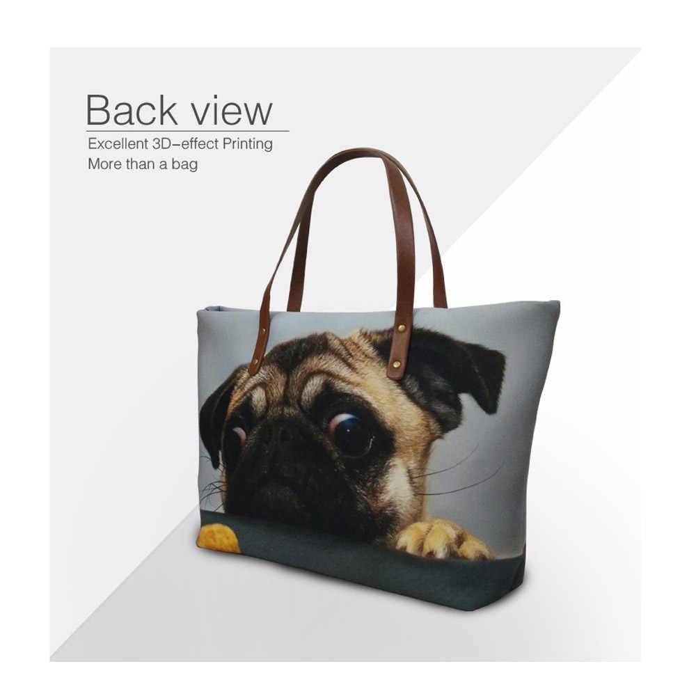FORUDESIGNS Bolsas & Wallet Mulheres Dachshund Cão Sacola Impressão Ombro Sacos para Viagem Organizador Bolsa Fêmeas Top-Handle Bags
