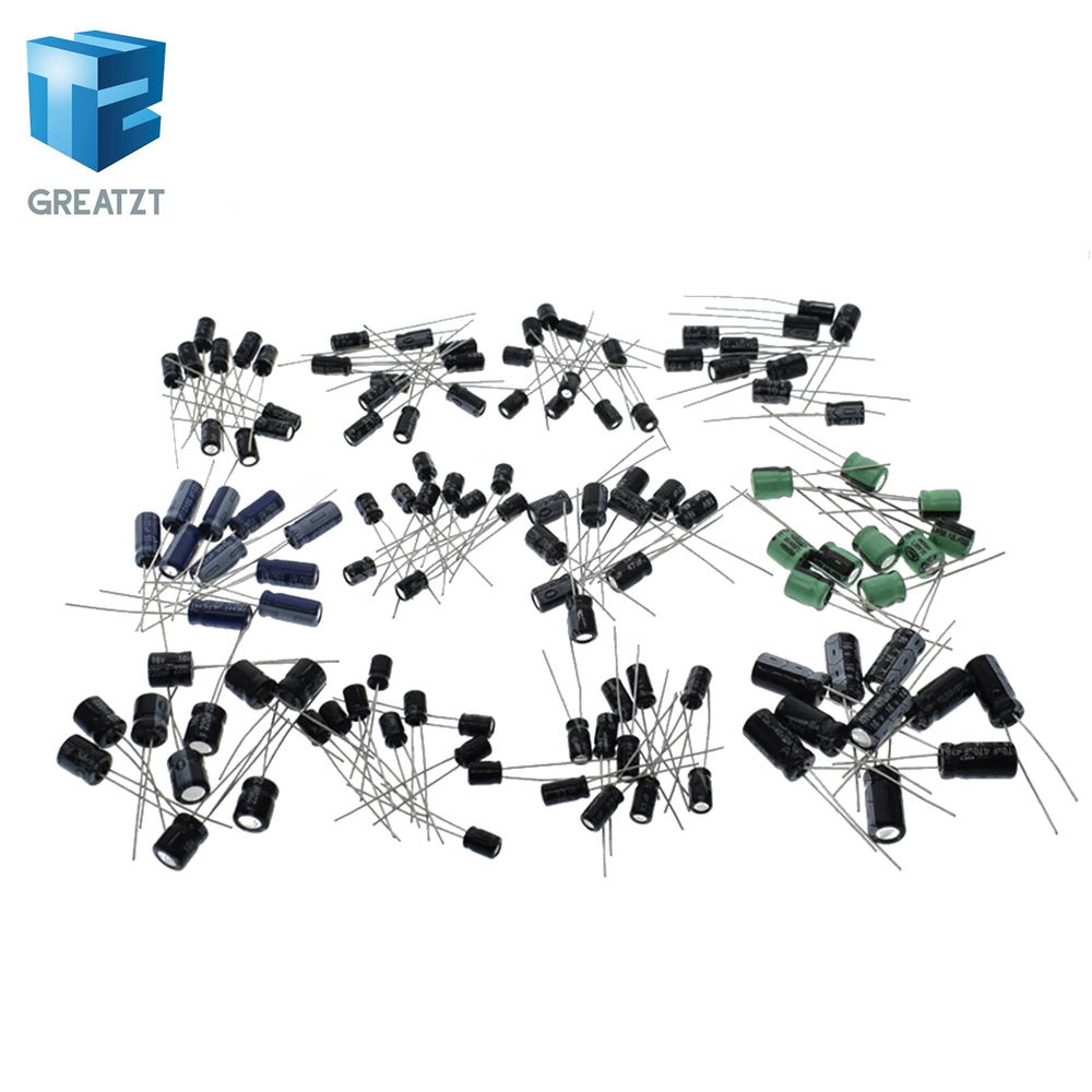 105°C 0.1uF~1000uF 36 Value*10PCS Electrolytic Capacitor Assortment Kit 360 PCS