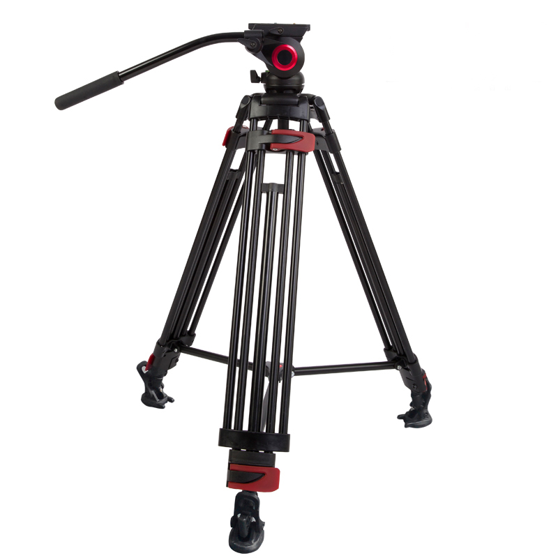 2017 miliboo Iron Tower Professional Portable Video font b Tripod b font DSLR with hydraulic Head