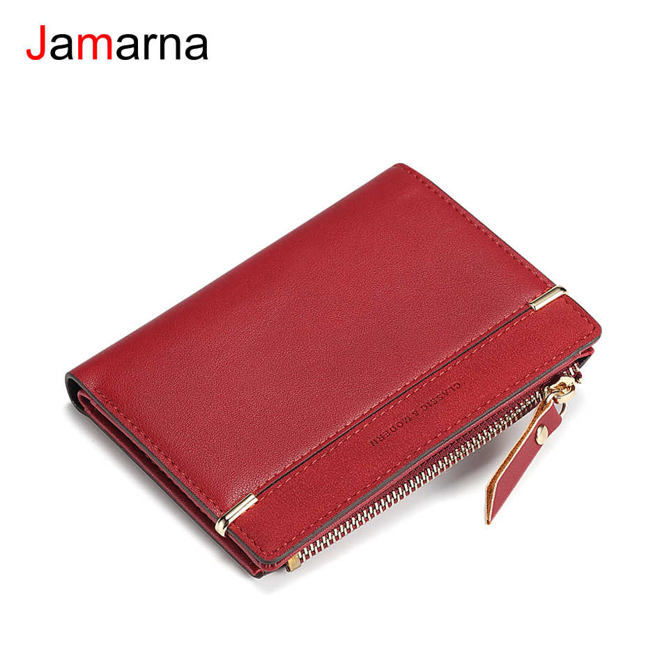 Jamarna Wallet Female Frosted PU Women Wallets Wallet Female Vintage Fashion Women Wallet Small Coin Purse Zipper Card Holder